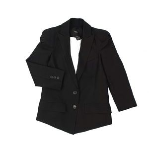 Smythe 100% Wool Sharp Shoulder Blazer